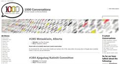 Preview of 1000conversations.ca