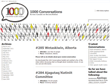 Tablet Preview of 1000conversations.ca